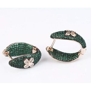 Sultan Ottoman Floral Emerald Rose Gold Earrings